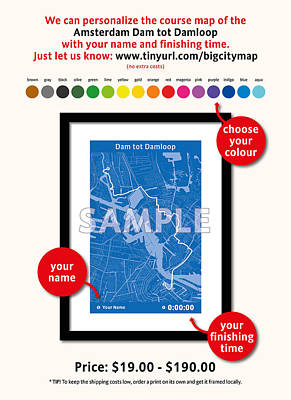 Amsterdam Digital Art - My Dam Tot Damloop by Big City Artwork
