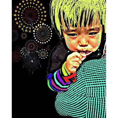 Pop Art Photograph - My Daughter Is Afraid Of Tone Of The by Takashi Nishimura