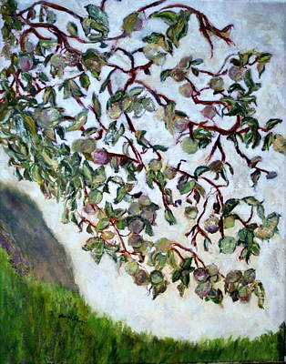 Painting - My Daughter's Apple Tree by Aleezah Selinger