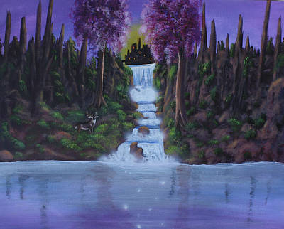 Painting - My Deerest Kingdom by Dawn Blair