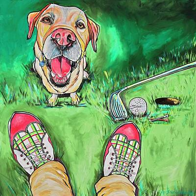 Painting - My Dog Putter by Patti Schermerhorn