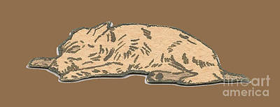 Drawing - My Dog Tricksy Sleeping by Donna L Munro
