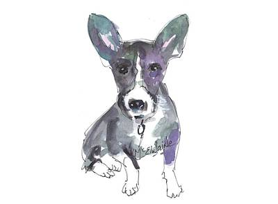 Painting - My Dog Ultra Violet by Kathleen McElwaine