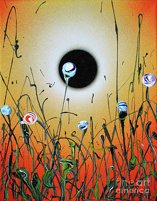Painting - My Eclipse Lasts Longer Than Your Eclipse by Ric Bascobert