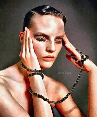 Black Dress Digital Art - My Eyes - Da by Leonardo Digenio