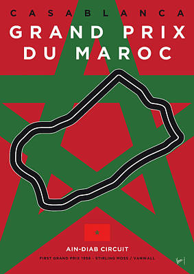 Digital Art - My F1 Casablanca Race Track Minimal Poster by Chungkong Art