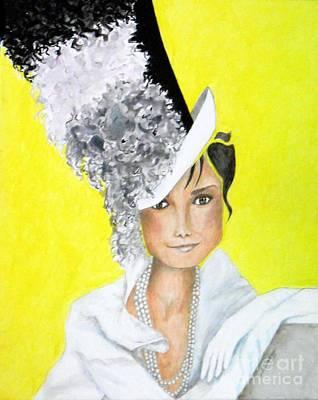 My Fair Audrey -- The Original -- Portrait Of Audrey Hepburn Original by Jayne Somogy