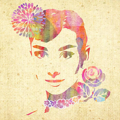 At Poster Mixed Media - My Fair Lady - Audrey Hepburn by Stacey Chiew