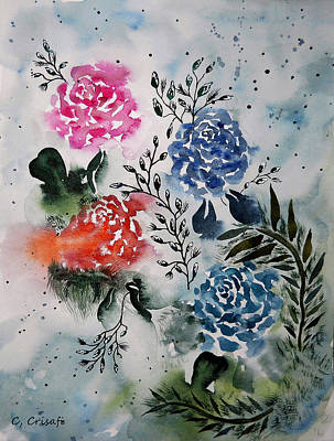 Painting - My Fair Roses by Carol Crisafi