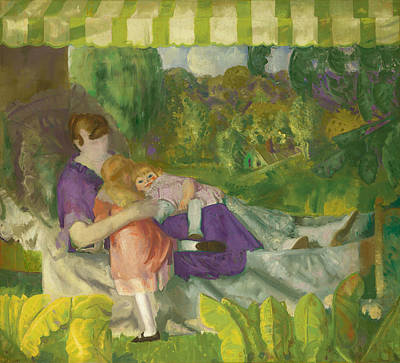 Bellows Wall Art - Painting - My Family by George Bellows