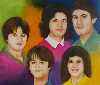 Wall Art - Painting - My Family My Life by Terry Arroyo Mulrooney
