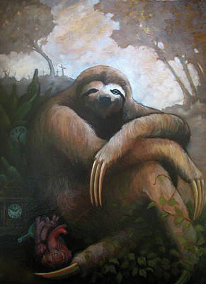 Sloth Painting - My Famine Pt. 1 by Scott Kirschner