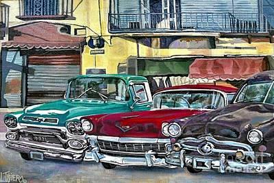 My Fathers' Cars Art Print by Lisa Tygier Diamond