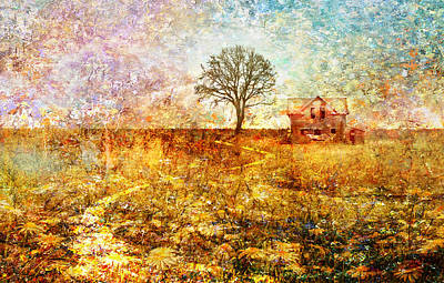 Bruce Springsteen Mixed Media - My Father's House by Mal Bray