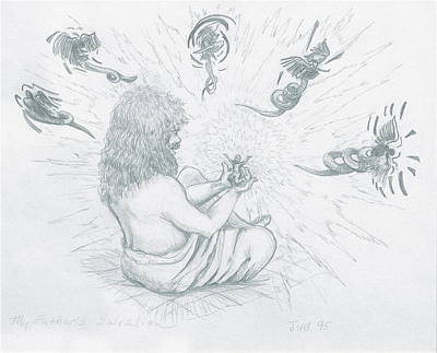 Drawing - My Father's Salvation by Jeanette Jarmon