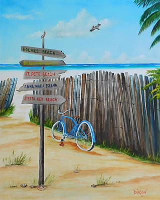 Painting - My Favorite Beaches by Lloyd Dobson
