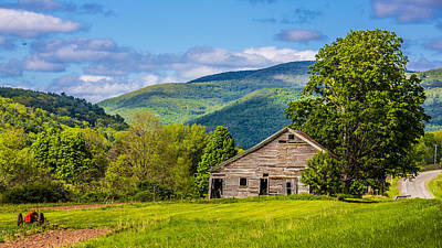 Art Print featuring the photograph My Favorite Cabin In The Rolling Mountains by Paula Porterfield-Izzo