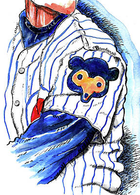 Painting - My Favorite Chicago Cub by Terry Banderas