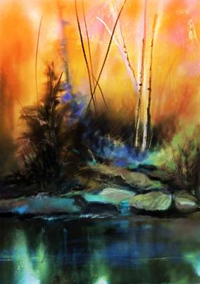 Painting - My Favorite Color Is Sunset by Michele Carter