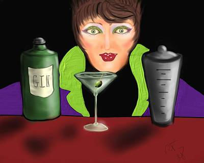 My Favorite Drink Art Print by Ronald Terrel