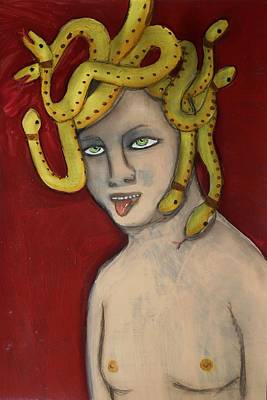 Painting - My Favorite Gorgon, Medusa by JoLynn Potocki