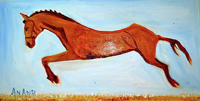 Painting - My Favorite Horse by Anand Swaroop Manchiraju