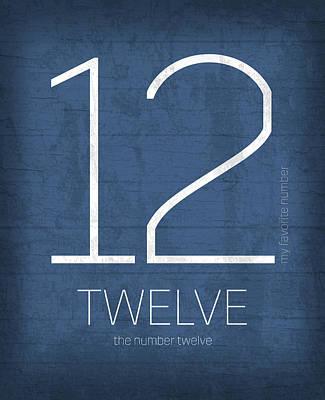 My Favorite Number Is Number 12 Series 012 Twelve Graphic Art Art Print