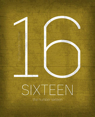 My Favorite Number Is Number 16 Series 016 Sixteen Graphic Art Art Print by Design Turnpike