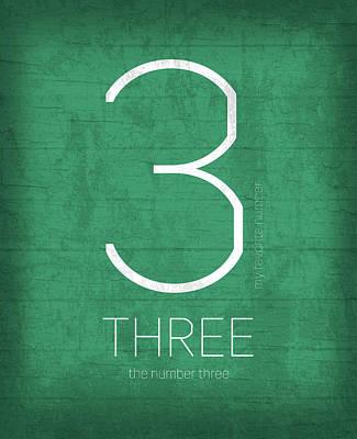 My Favorite Number Is Number 3 Series 003 Three Graphic Art Art Print