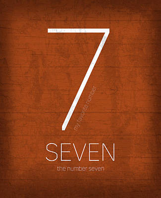 Seven Mixed Media - My Favorite Number Is Number 7 Series 007 Seven Graphic Art by Design Turnpike