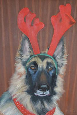 German Shephard Painting - My Favorite Reindear by B Fernandez