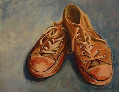 Painting - My Favorite Shoes by John Pendarvis