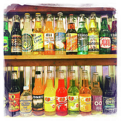 Photograph - My Favorite Soda Bottles by Nina Prommer