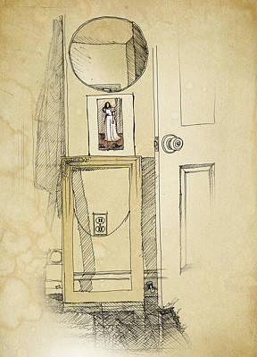 Interior Still Life Drawing - My Favorite Whistler by Ch' Brown