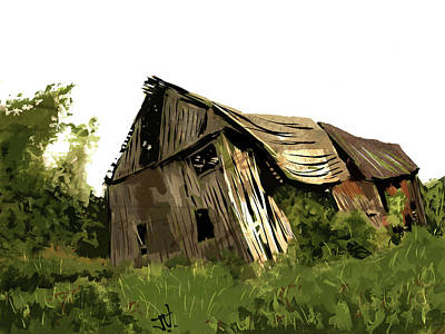 Digital Art - My Favourite Barn by Jim Vance