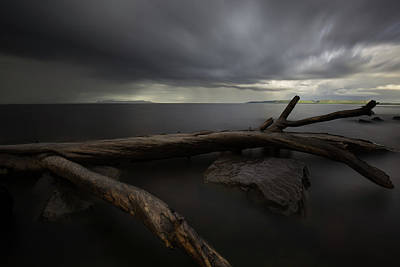 Gichigami Photograph - My Favourite Piece Of Driftwood, The Giant And A Thuderstorm by Jakub Sisak