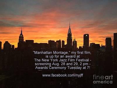 Photograph - My First Film - Announcement by Miriam Danar