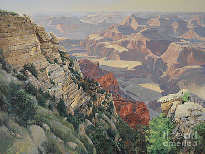 Canyon Painting - My First Grand Canyon by Don Langeneckert