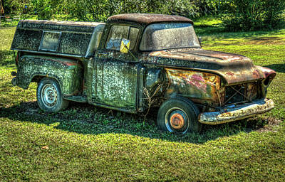 Photograph - My First Truck Now Abandoned by Douglas Barnett