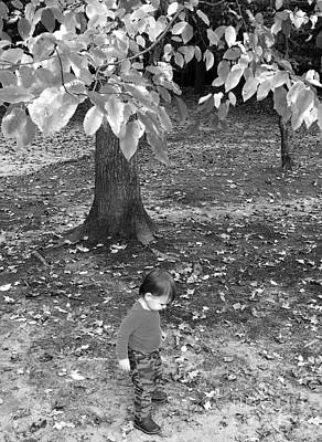 Photograph - My First Walk In The Woods - Black And White by Rafael Salazar