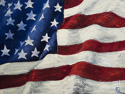 American Flag Painting - My Flag by Jodi Monahan