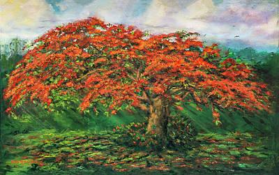 My Flamboyant Tree Art Print