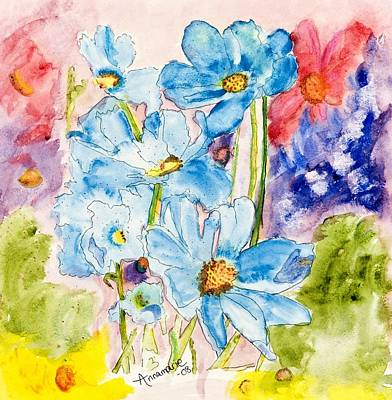 Painting - My Flower Garden by Annamarie Sidella-Felts