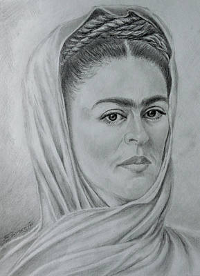 Drawing - My Frida... by Edgar Torres