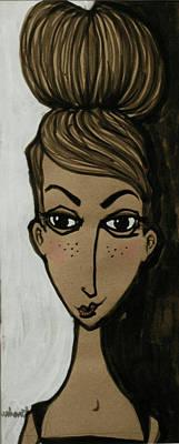 Updo Painting - my friend Ella Bella by Jane Duhart
