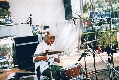 Photograph - My Friend Guru On Drums 1996 by Paul SEQUENCE Ferguson             sequence dot net