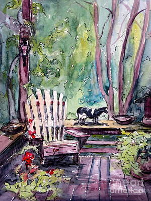 Painting - My Front Porch by Gretchen Allen
