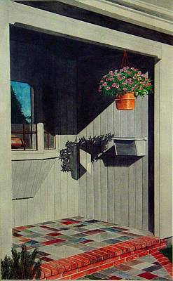My Front Porch Art Print by Ron Sylvia