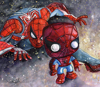 Painting - My Funko Spider Sense Is Tingling by Miki De Goodaboom