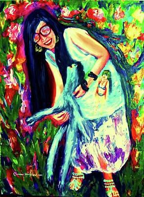 Painting - My Funny Life by Wanvisa Klawklean